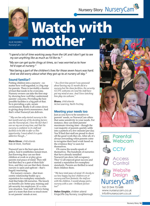 NMT Advertorial NurseryCam Watch with Mother